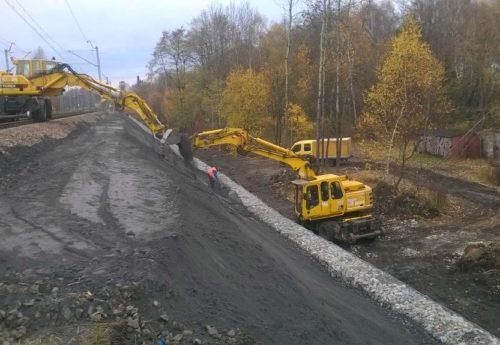 Odbudowa skarpy Katowice – Legnica